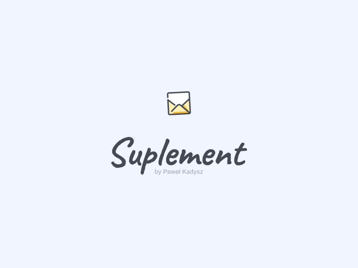 Suplement Newsletter